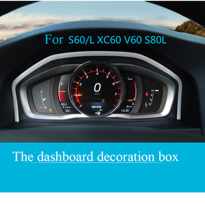 Image 1 - Tuning Special Instrument Panel Decorative Frame Stainless Steel For Volvo XC60 S60 S80V60 Auto Accessories Interior Car Styling