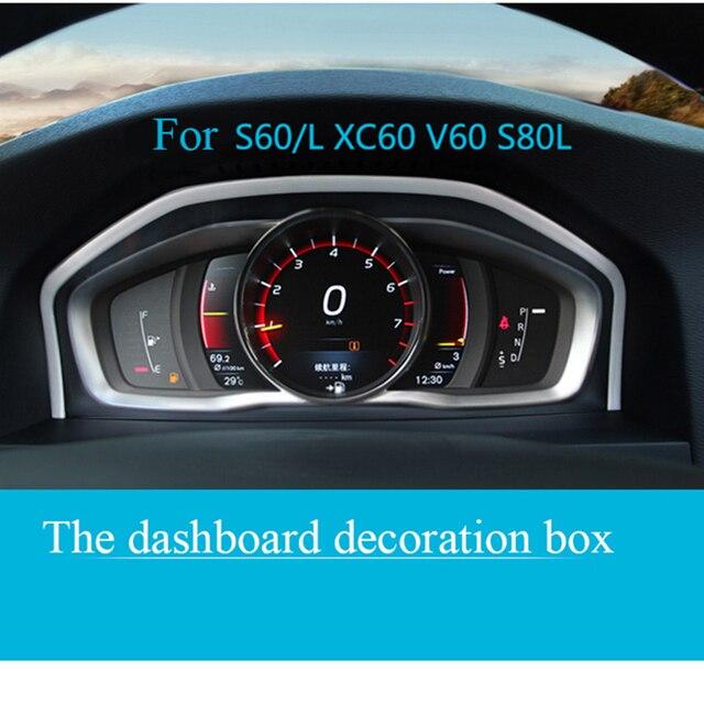 כוונון מיוחד מכשיר פנל דקורטיבי מסגרת נירוסטה עבור וולוו XC60 S60 S80V60 אוטומטי אביזרי פנים רכב סטיילינג