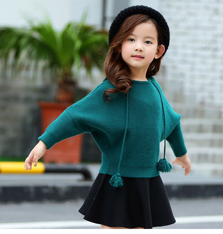 New Girls Sweaters Hedging Hooded Jacket Spring Autumn Bats Shirt Baby Sets