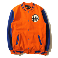 Dragon Ball Z Baseball Jacket The Monkey King Goku Master Roshi Piccolo Chiaotzu Cosplay Costume Hoodies Sweatshirt Coat