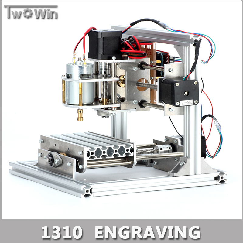 Diy CNC Engraving Machine, Working Area 130 x 100 x 40mm, PCB Milling Machine CNC Wood Carving Mini Engraving Router PVC.