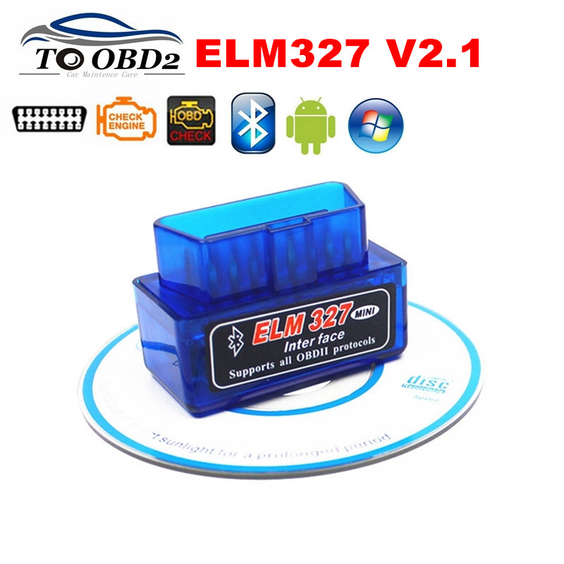 ELM327 Super MINI Blue Bluetooth V2.1 OBD OBDii Code Reader ELM 327 Works Android Torque/Symbian Auto Car Diagnostic Scanner