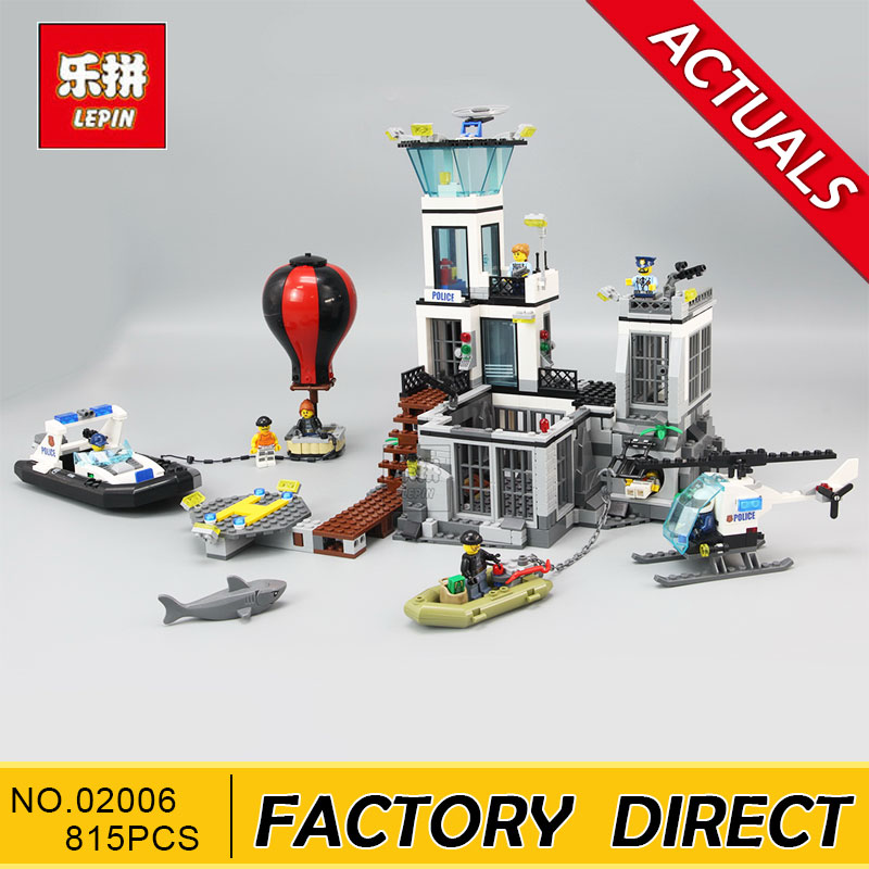 LEPIN 02006 815pcs LEPIN City Police PRISON ISLAND Building Blocks Figures Model Bricks Toys Gift Compatible With 60130 lepin 02006 815pcs city series police sea prison island model building blocks bricks toys for children gift 60130