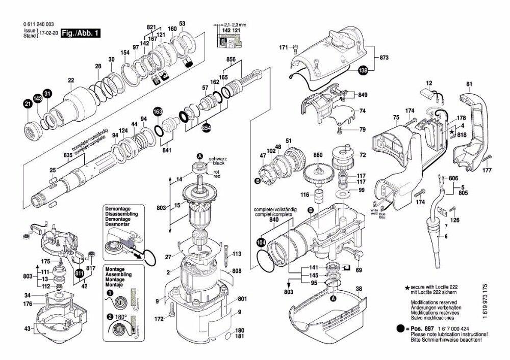 AC 220 V/240 V GBH 5 38 マキタ交換 GBH5 38 GBH5 38D GSH388X GBH 5 38D GSH 388X 解体ロータリーハンマー  グループ上の ツール からの 電動工具アクセサリー の中 2