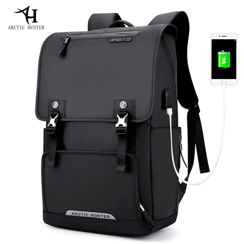 ARCTIC HUNTER USB Charge Port Backpack Large Capacity Laptop Backpack Men Travel Bag Oxford Back packs Waterproof casual Bag arctic hunter design backpacks men 15 6inch laptop anti theft backpack waterproof bag casual business travel school back pack