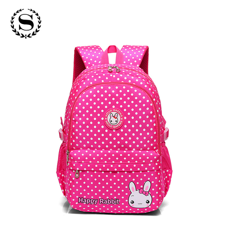 SCIONE Brand Large Capacity Ladies Dot Printing School Backpack Cute School Bags for Teenagers Girls Mochila Escolar Infantil fashion cartoon car and plane printing backpack for elementary school children backpack school bags mochila escolar infantil