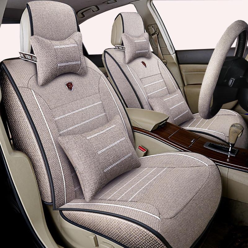 Linho de alta qualidade tampa de assento do carro Universal para Renault Koleos Kadjar Captur 2 3 Duster Megane Kangoo Koloe automóveis etiqueta