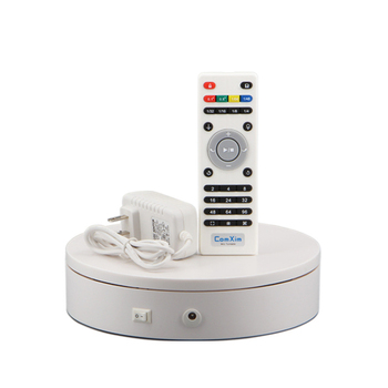 Electric Turntable Photography Display Stand Remote Control Speed and Direction 32cm Diameter 24-68 s/r Y