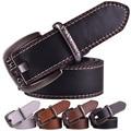 fashion leather men belt for men women brand vintage metal pin buckle female male strap mens belts luxury designer cinto