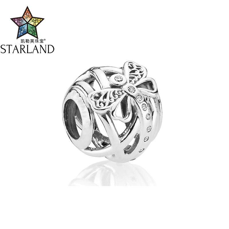 Der Original Gute Begleiter FüR Kinder Sowie Erwachsene Starland 100% 925 Sterling Silber Traum Libelle Einzigartige Hohl Elegante Charme Perlen Armband Diy Schmuck Edler Schmuck