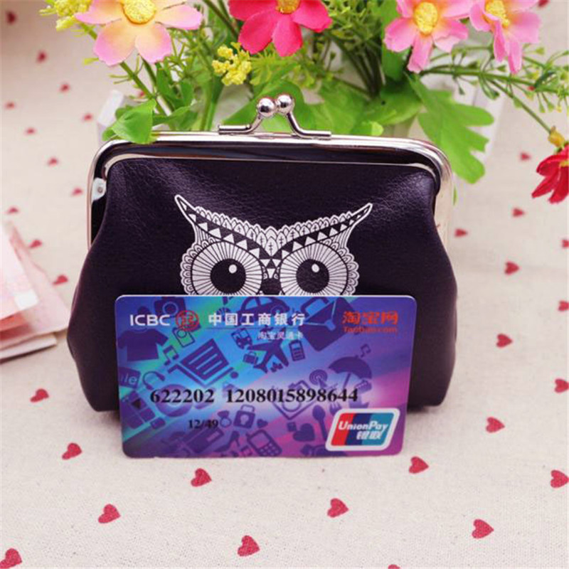 Superior Quality Womens Owl Wallet Card Holder Coin Purse Clutch Handbag Organizer Card Wallet dropship B#