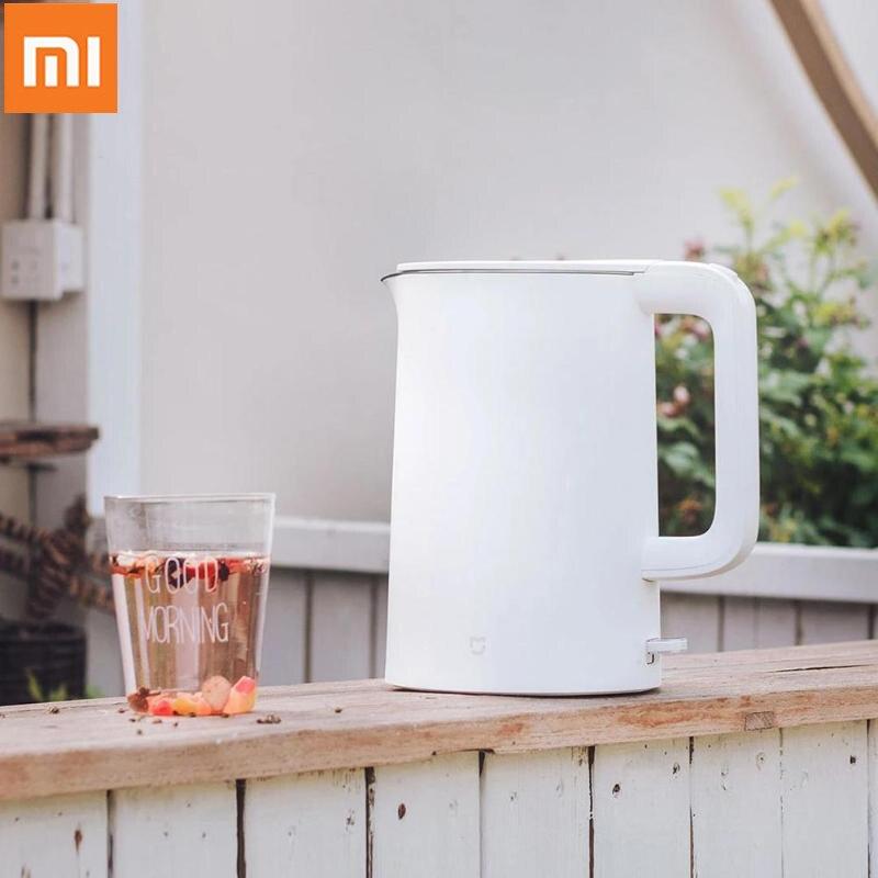 Original xiaomi mijia 1.5l chaleira de água de aquecimento instantâneo portátil chaleira de água elétrica proteção de desligamento automático com fio chaleira