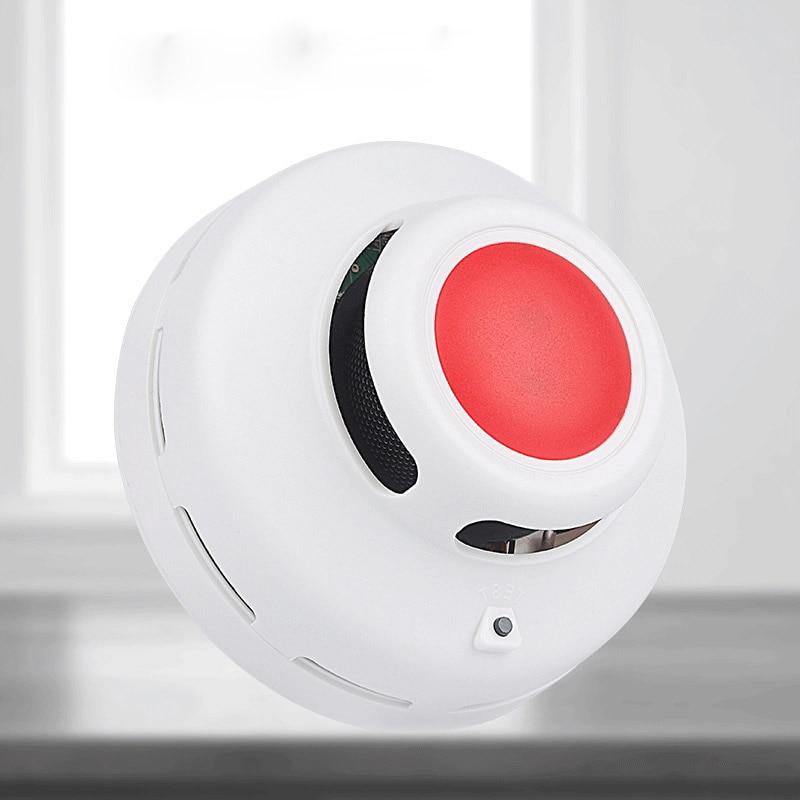 Indoor Home Safety Garden High Sensitive Standalone Photoelectric Smoke Detector Fire Alarm Sensor For Security MCU Technology