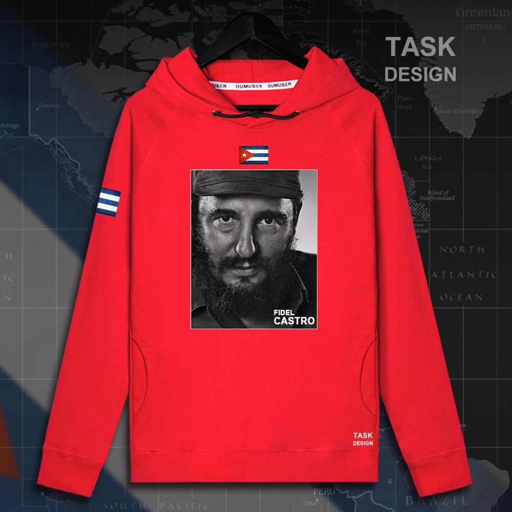 Fidel Castro pullovers hoodies President of Cuba hoodie men sweatshirt polo sweat hip hop streetwear tracksuit 2018 souvenir 05