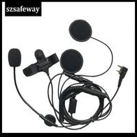 uv 5r uv רעש ביטול אוזניות micriphone אופנוע עבור רדיו דו-כיווני עבור UV-5R Baofeng TK-208, TK-220, TK-240, TK-240D משלוח חינם (2)