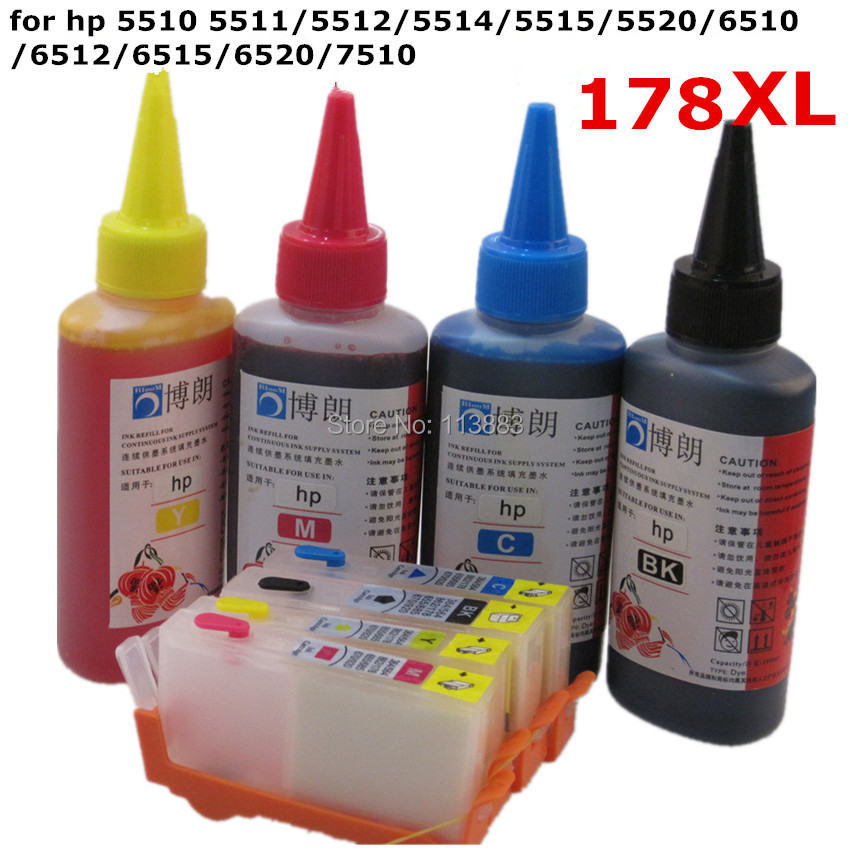 BLOOM compatible refill ink kit for hp 564 XL Refillable ink cartridge for  HP 5510 5511 5512 5514 5515 5520 6510 6512 6515 6520 04c5464eca5e
