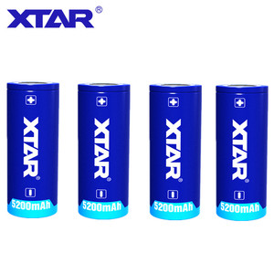 Image 2 - 4Pcs original Xtar Rechargeable 26650 5200mAh Button top 3.6V protected battery for flashlights portable power supplies etc