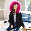 Женская зимняя куртка, искусственная подкладка, 2016, пуховик с капюшоном, модное, повседневное пальто зеленого, черного, розового цвета, плотное, теплое, хит продаж, новинка