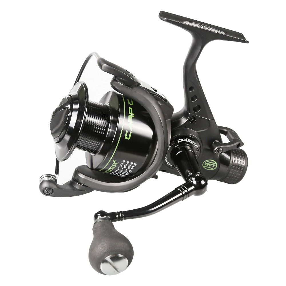 ФОТО 6+1BB Ball Bearings Spinning Reel  5.2:1 Gear Ratio Carp Fishing Wheel Double Brake CNC Rocker  Bait Runner Lure Fishing Tool