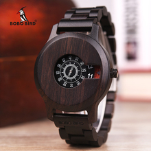BOBO BIRD Timepieces Wooden Watch Men Quartz Unique Front Watch
