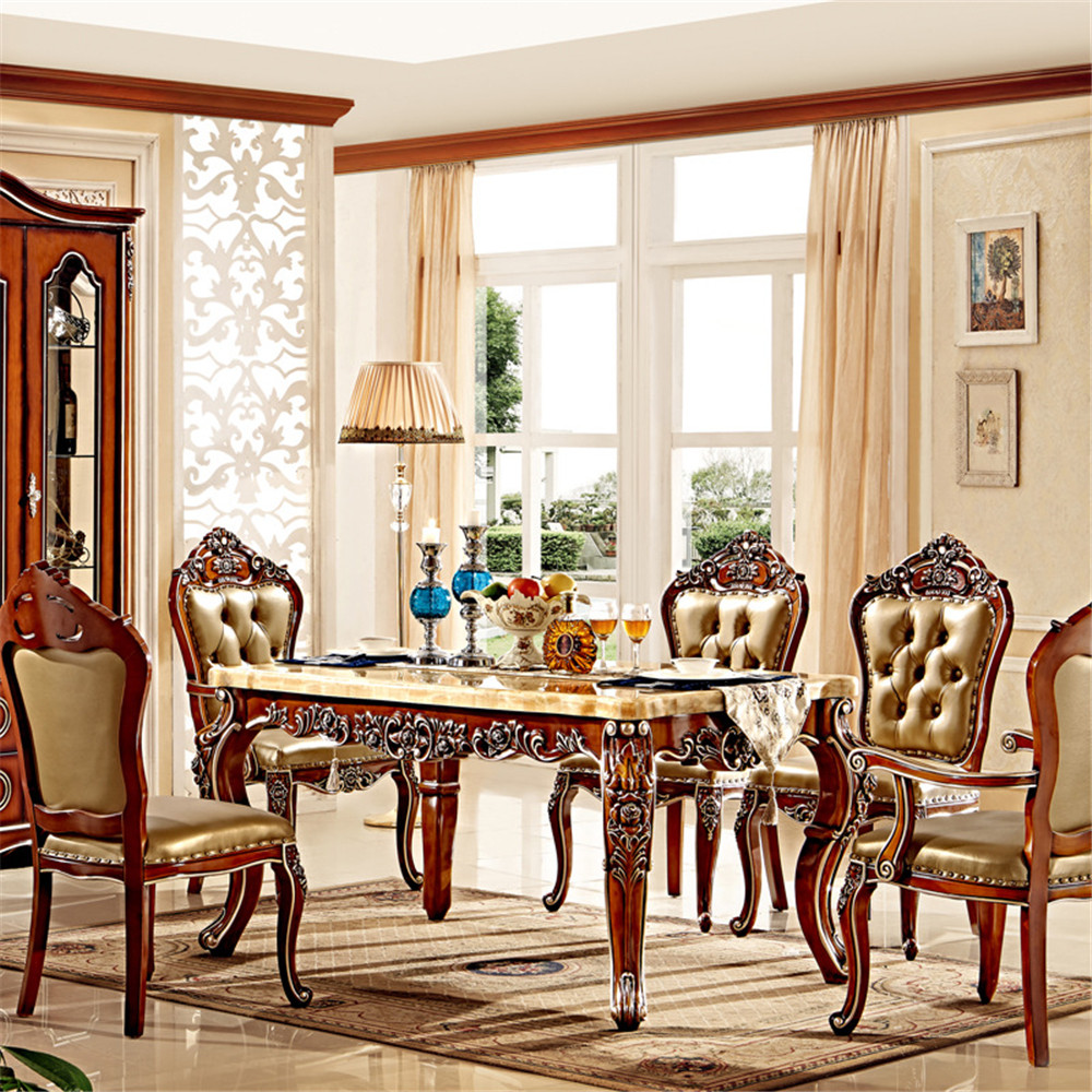 Wooden chairs for living room - Rectangle Wood Dinning Table With Chair Set Wooden Furniture Set
