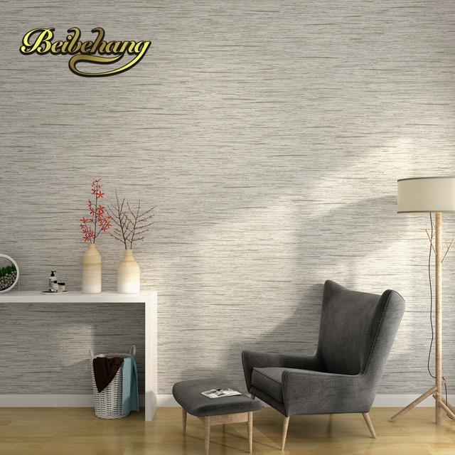 Beibehang Minimalistische Einfache Feste Farbe Grau Vliestapete Tapete  Schlafzimmer Wohnzimmer TV Kulisse Tapete Wallpaper