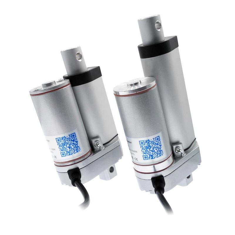 Motor eléctrico dc 12 V actuador lineal 50mm 30mm 20mm golpe 24 V ventana abridor 100N200N300N500N750N800N900N1100N1300N1500N