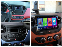 Full Touch Car Android 8.1 Radio Player For Hyundai i10 2017 USB aux Vehicle GPS Navigation Video Multimedia Built In Bluetooth