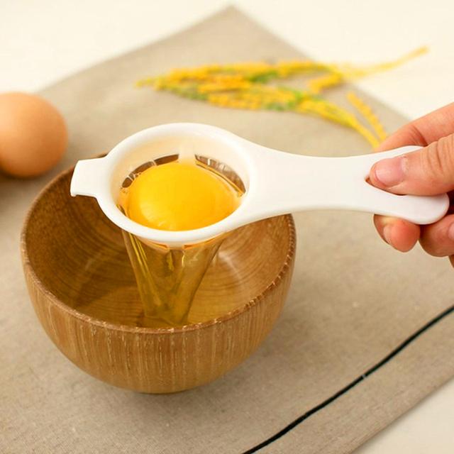 2 Pcs Aihogard Plastic Egg Yolk Separator Food-grade Egg Divider Protein Safe Practical Hand Egg Tools Kitchen Cooking Gadgets