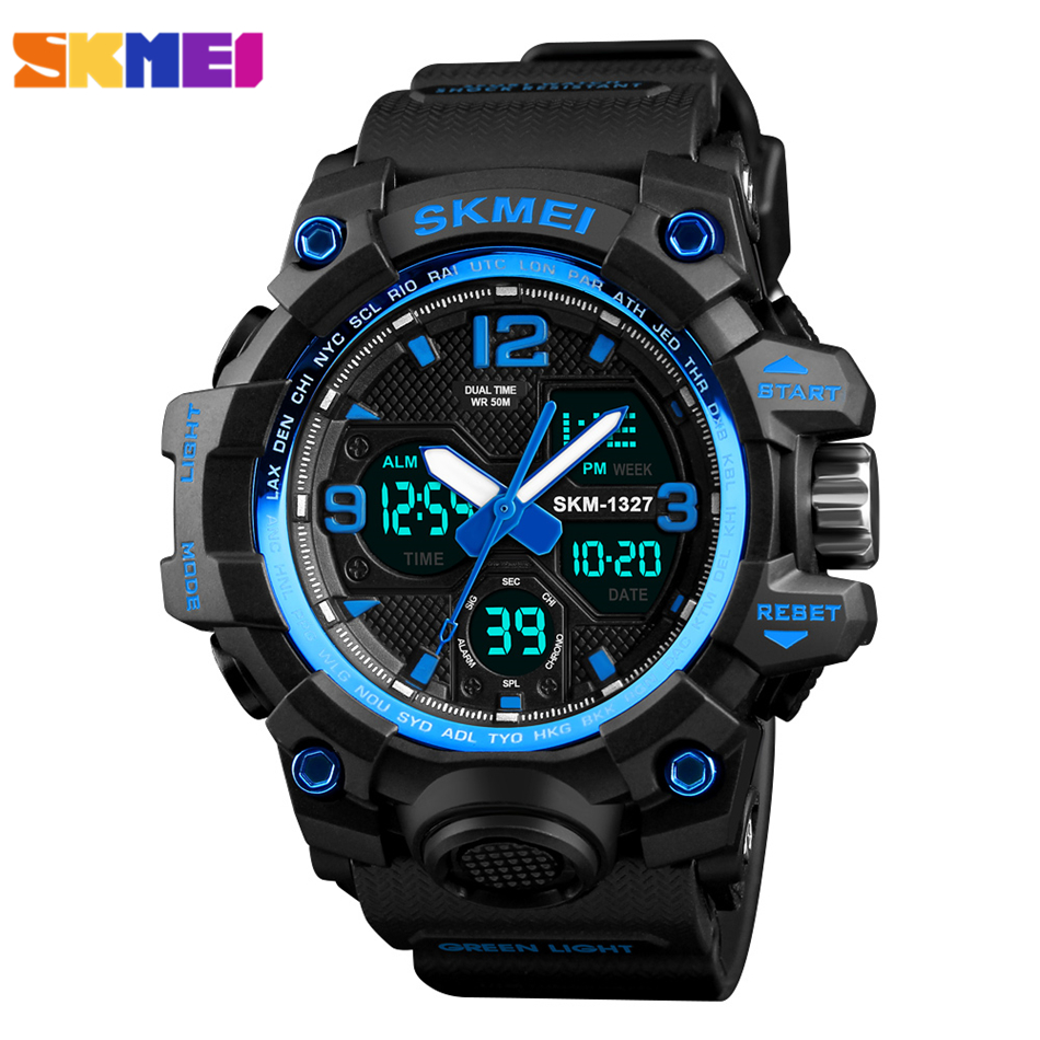 SKMEI Mens Watches Top Brand Luxury LED Digital Wrist Watch Men Waterproof Fashion Military Outdoor Sport Clock Men's Wristwatch 2016 brand o t s fashion outdoor sport waterproof led mens clock digital
