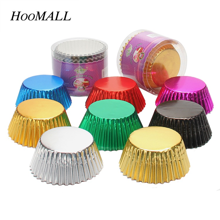 Hoomall 100Pcs Cupcake Paper Cake Decoration Tools Mold
