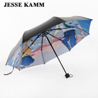 Auto Open Compact Three Folding Rain Travel Strong Frame Umbrellas Male Female Women Men umbrellas