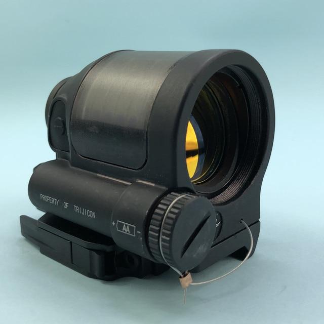 SRS 레드 닷 시력 1x38 QD 마운트 사냥 반사 시력 태양 광 발전 시스템 전술 소총 범위 Flashkiller 블랙