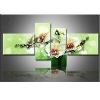Diamond Embroidery 5D DIY Diamond Painting 4PCS Green Calla Flower Diamond Painting Cross Stitch Rhinestone Mosaic