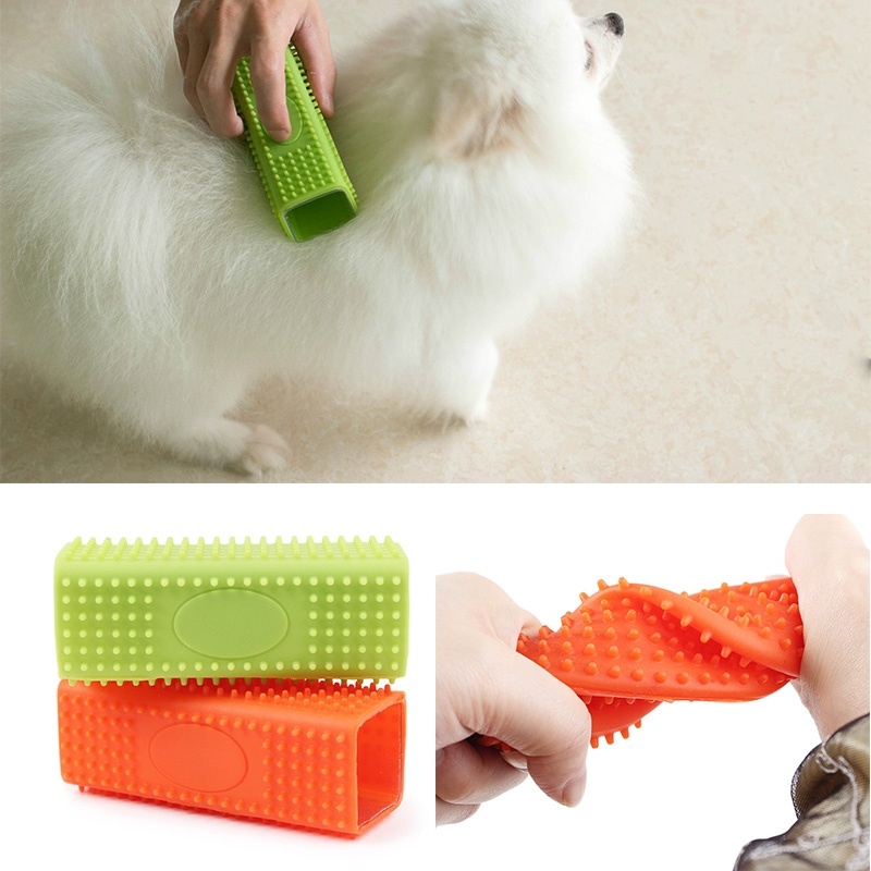 1 pcs Useful Products for Cats and Dogs Pet Hair Cleanup Suction Hair Tools Hair Removal Brush Easy To Clean Up Animals Hair מסרק כינים