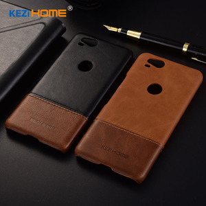 Image 2 - Case for Google Pixel 2 KEZiHOME Luxury Hit Color Genuine Leather Hard Back Cover capa For Google Pixel2 5.0 Phone cases