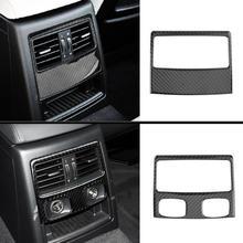 1 Set In Fibra di Carbonio Interni Auto Posteriore Aria Condizionata Vent Della Copertura Trim Sticker per BMW E90 3 Serie 2005- 2015 Accessori Per Auto
