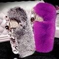 3D Кролика Case Для iPhone 7 Case Роскошные Побрякушки Diamong Лиса Голова крышка Для Коке iPhone 6 S Case Для iPhone 7 Plus 6 6 S Plus 5S