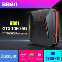 BBEN GB01 игровое поле компьютер Win10 Intel I7 7700HQ Процессор NVIDIA GTX1060 6 г Графика оперативной памяти 8 г/16 г/32 г, 256 г/512 г SSD, 1 т/2 т HDD вариант