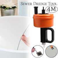 Bathroom Floor Kitchen Toilet Sewer Blockage Hand Tool Pipe Dredger 4 meters Drains Dredge Pipes Sewer Sink Cleaning Tool