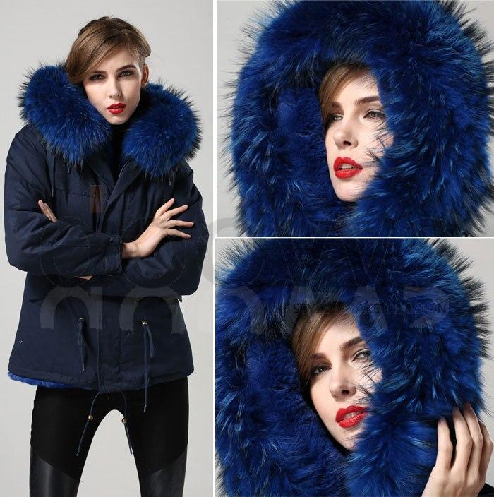 Veste Direct D'hiver De Mme Manteau Bleu Capot Real Survêtement Fourrure Big Collier Fabricant Laveur Usine Chaud Parka Prix Avec Raton jSMGzVLqpU