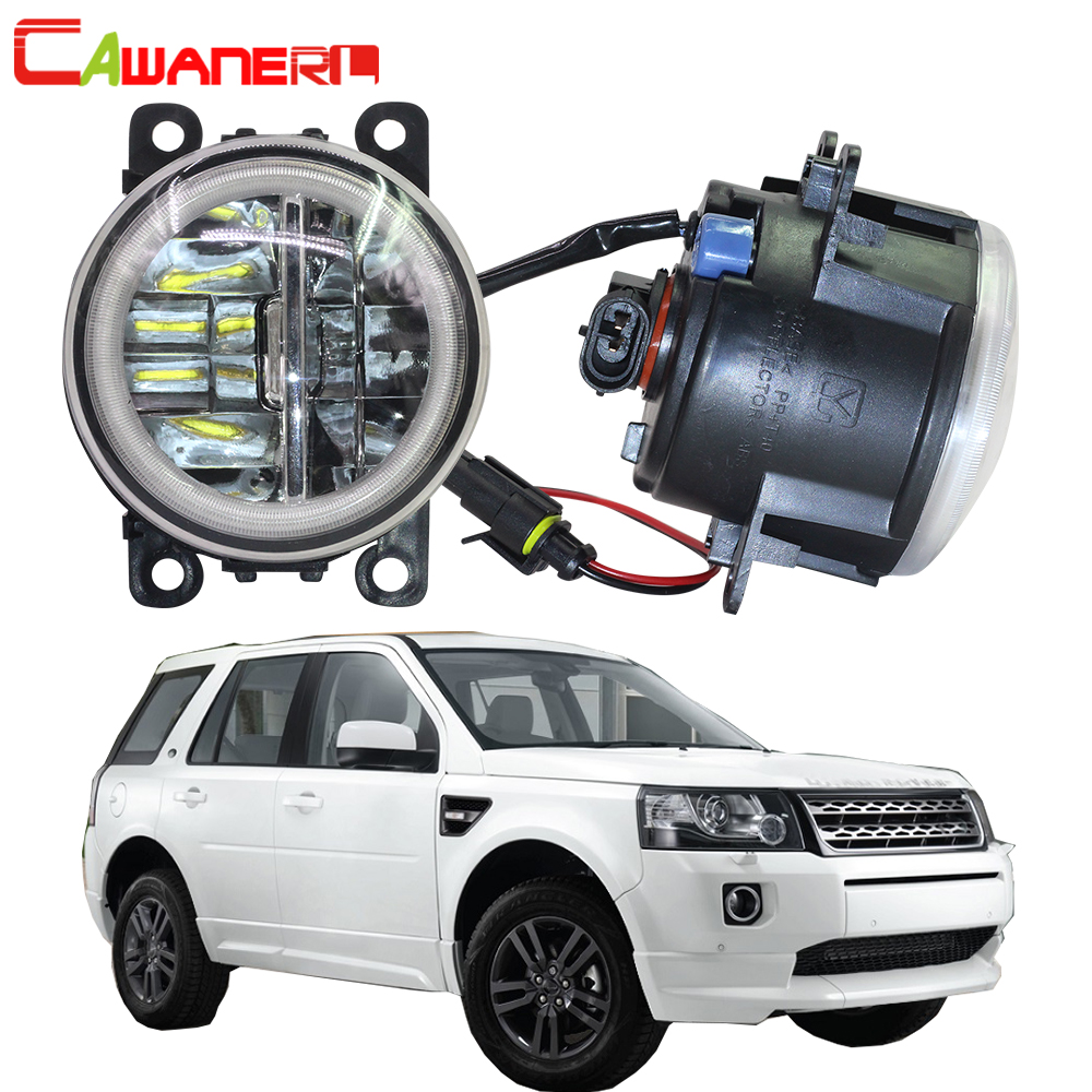 Cawanerl Pour Land Rover Freelander 2 LR2 FA _ Fermé les Véhicules Hors Route 2006-2014 Voiture H11 LED ampoule Brouillard Lumière + Angel Eye DRL 12 v