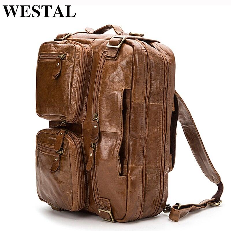 37b1faaee WESTAL bolsos hombres piel bolso bandolera hombre bolso cuero genuino hombres  bolso mensajero hombre maletin hombre