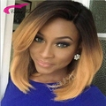 150% Density Peruvian Lace Front Wig Human Hair Dark Blonde Bob Wig ombre 2#/27# Wig front lace for black Women Bob Short Wigs