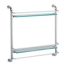 Полочка для ванны WasserKRAFT K-2022 (Металл, хромоникелевое покрытие, уплотнительные пластиковые кольца, закаленное матовое стекло)