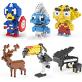 2017 New self-locking Building Blocks small animal Minion Transformation Cartoon Characters 3D mini Bricks Toys gift figure toy