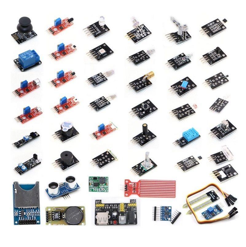 45 in 1 Sensors Modules Starter Kit For arduino new basic starter learning kit upgrade version for arduino