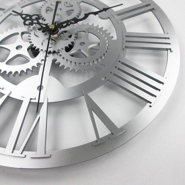 Modern Home Decor Large Wall Clock 3D Retro Clock Europe Style Gear Wall Clock Art Watch