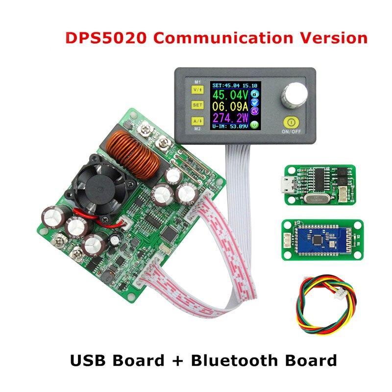 DPS5020 цифровой Управление источника питания 50 В 20A Регулируемая постоянная Напряжение постоянный ток тестер DC Вольтметр регуляторы ампермет...