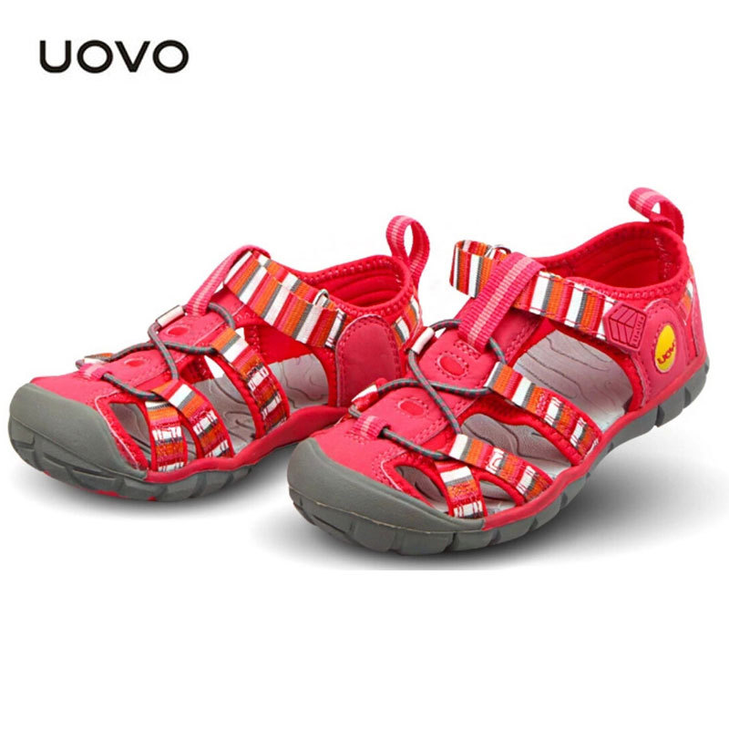ФОТО Brand Kids Sandals New Cutouts Garden Shoes Rainbow Sneakers Summer Shoes Children Boys Girls EU26-33 UOVO Brand Kids Sandals